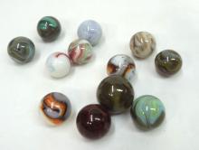 12 Swirl Marbles
