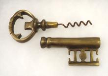 Brass Jail Key Corkscrew