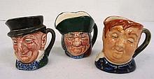 3 Royal Doulton Tobys