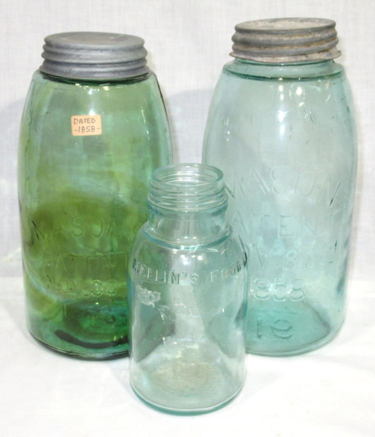 3 Fruit Jars