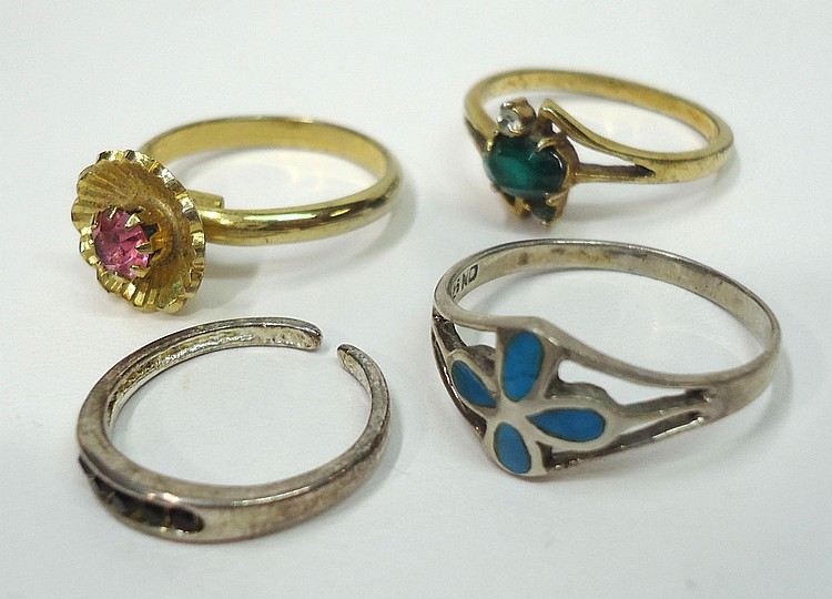 13 costume jewelry rings