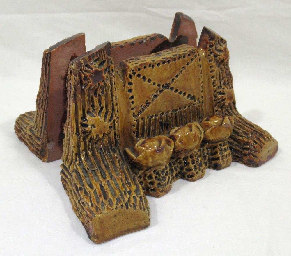 Evans Pottery Bookends