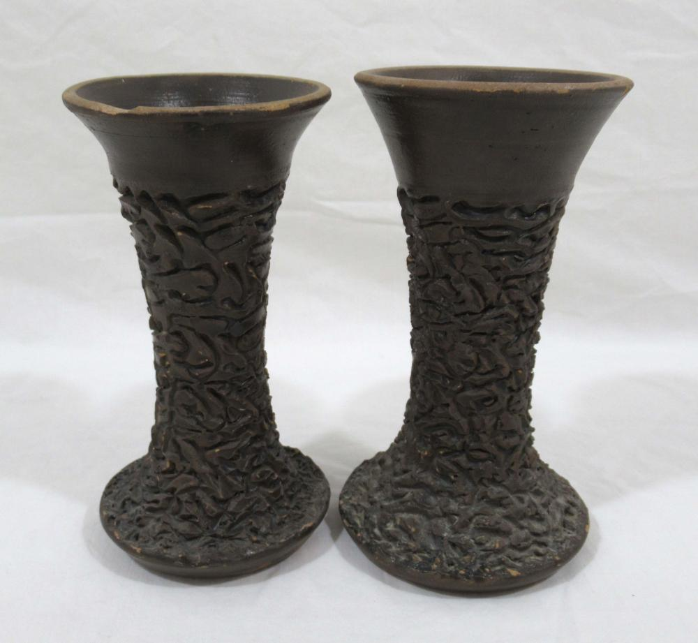 Evans Pottery Pr of Lamp Bases