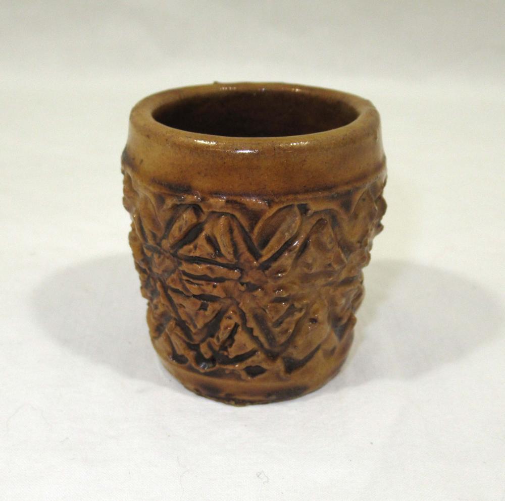 Evans Pottery Match/Toothpick Holder