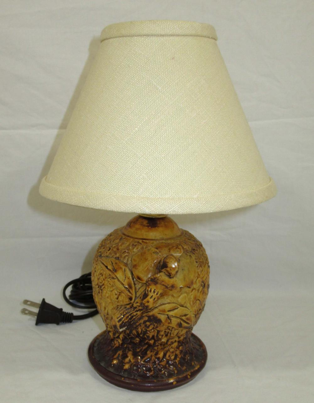 Evans Pottery Lamp
