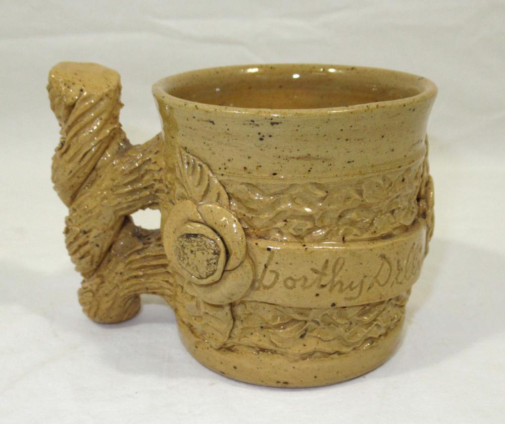 Evans Pottery Cup Inscribed Dorthy Dillin
