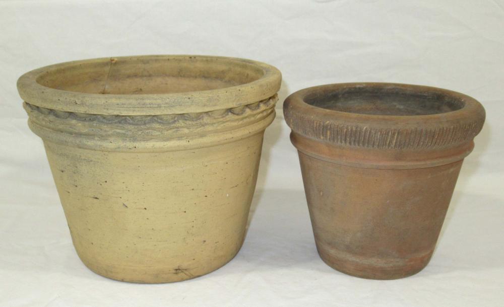 2 Evans Pottery Planters