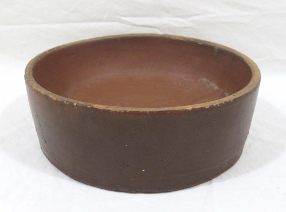 Evans Pottery Dog Bowl