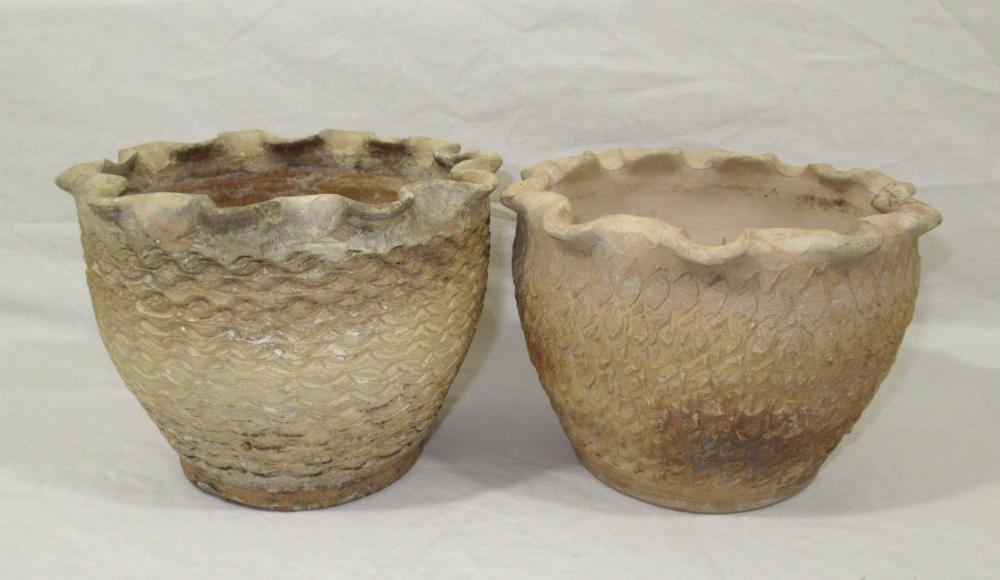 Pr Evans Pottery Planters