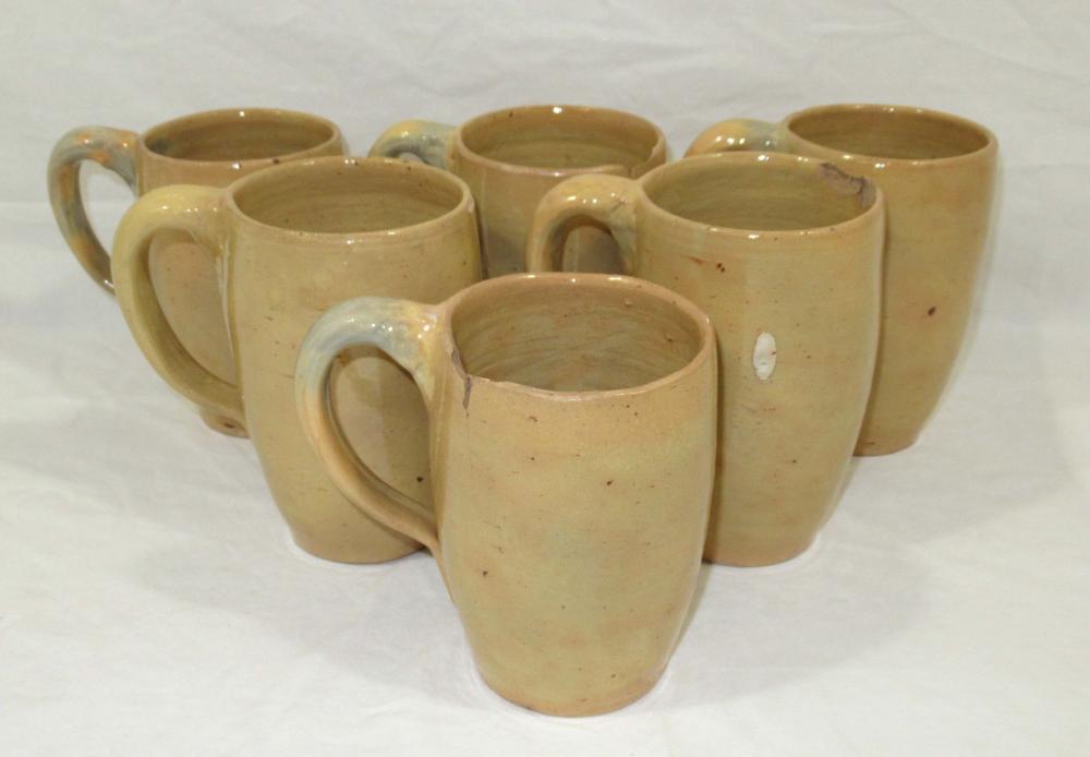 Evans Pottery Set of 6 Mugs