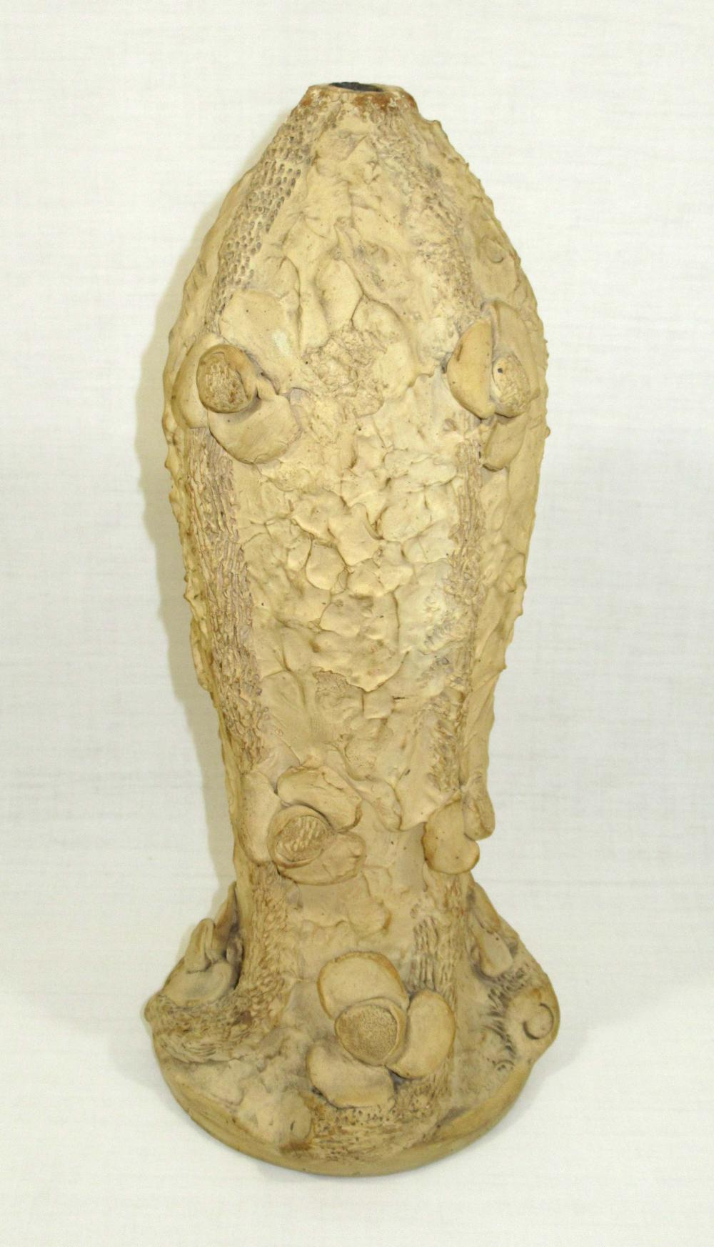 Evans Pottery Tall Lamp Base, Sgnd