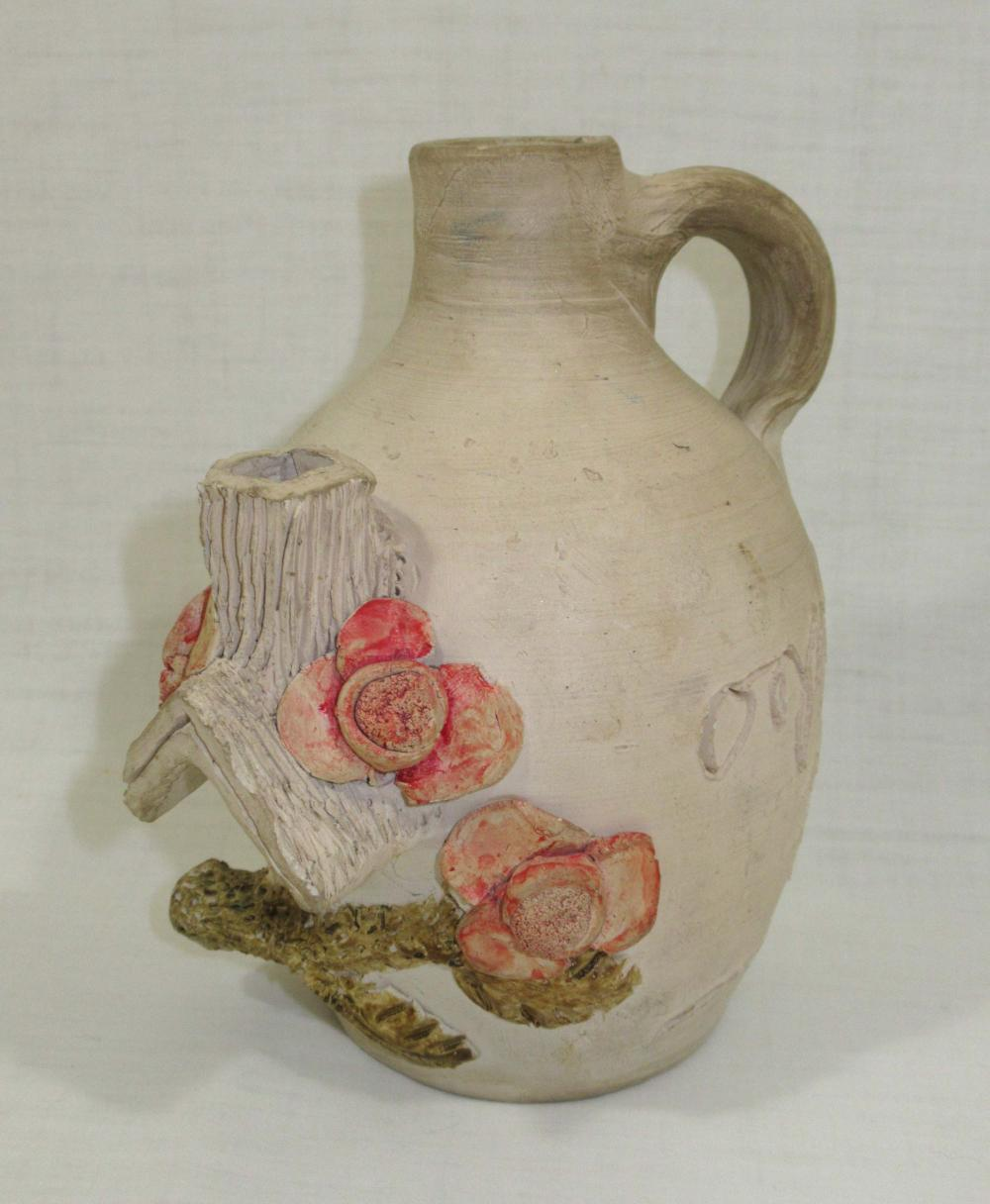 Evans Pottery Birdhouse Jug, Sgnd