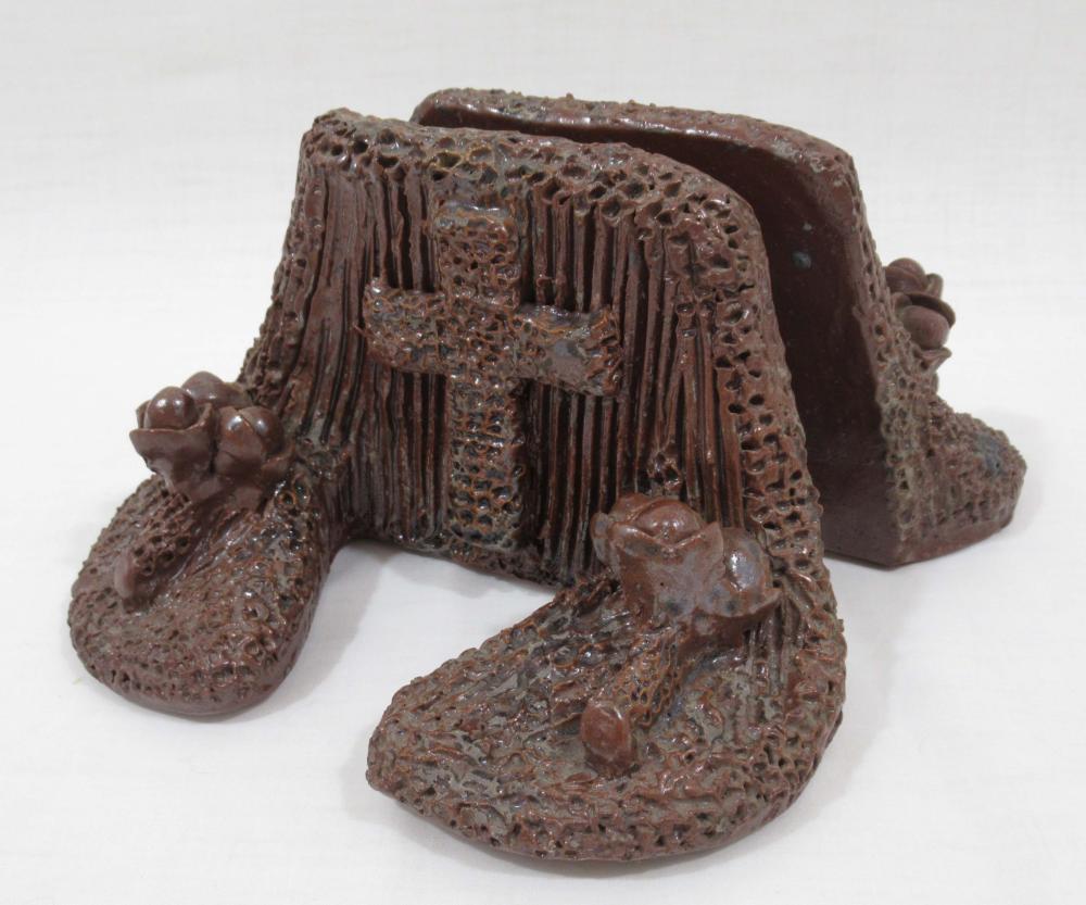 Pr Evans Pottery Bookends