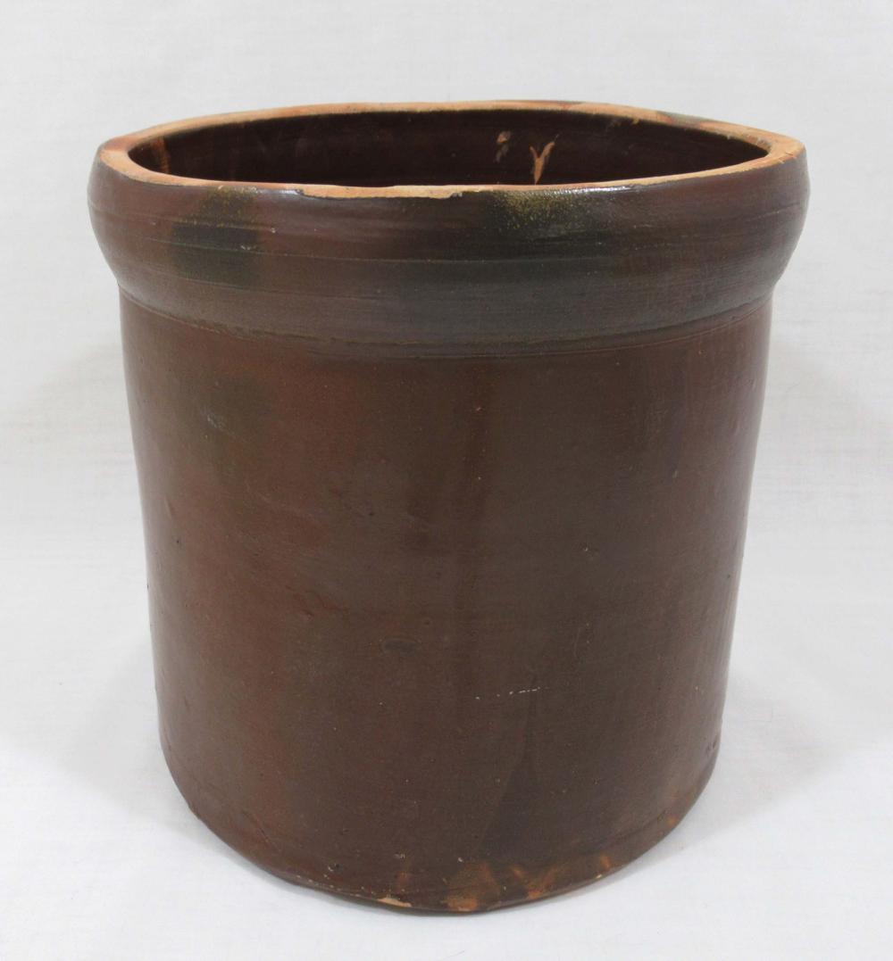 Evans Pottery Crock