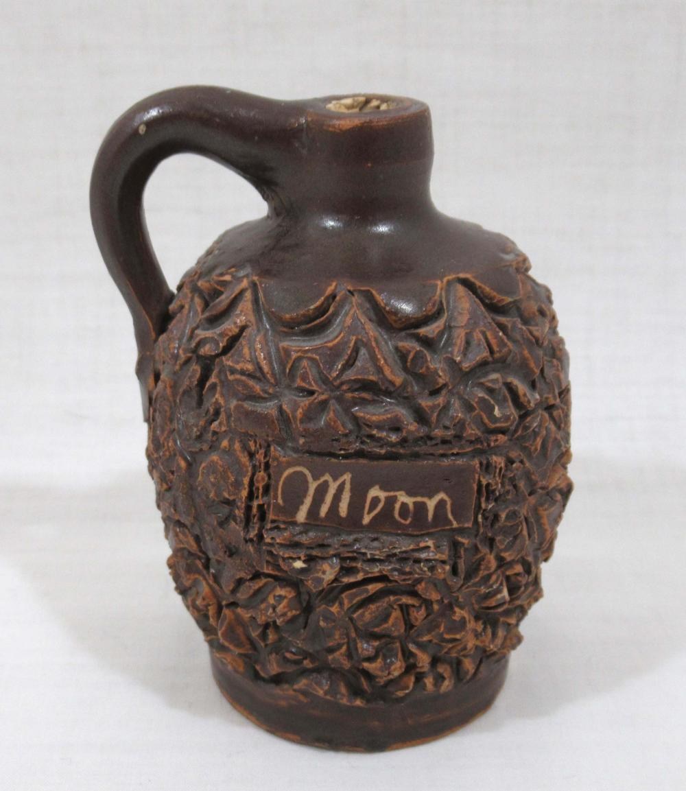 "Evans Pottery Miniature Jug Inscribed ""Moon"""
