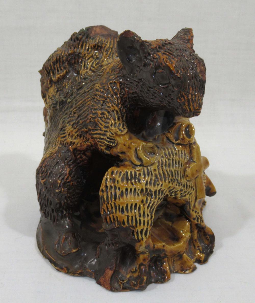 Evans Pottery Squirrel Ashtray