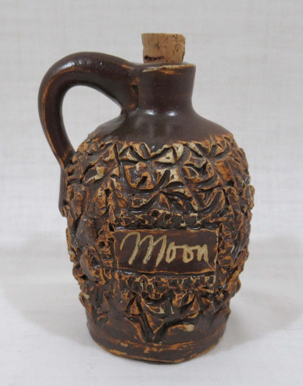 "Evans Pottery Miniature Jug, Inscribed ""Moon"""