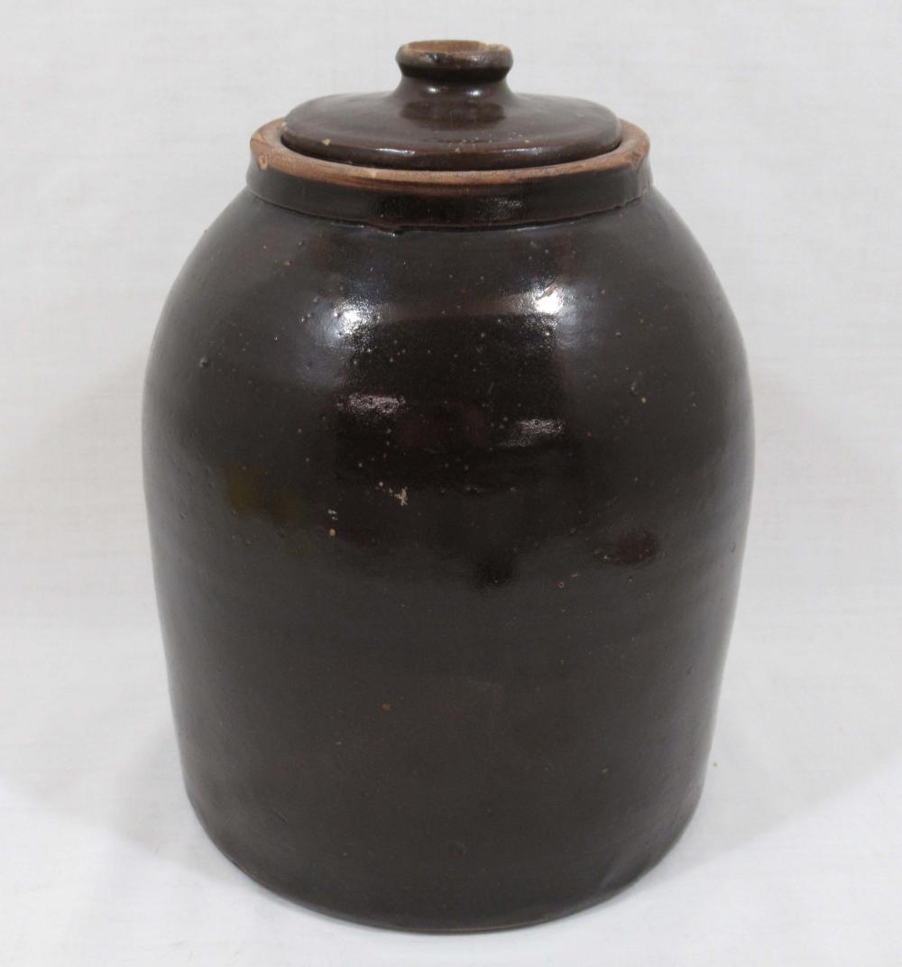 Evans Pottery Crock w/ Lid