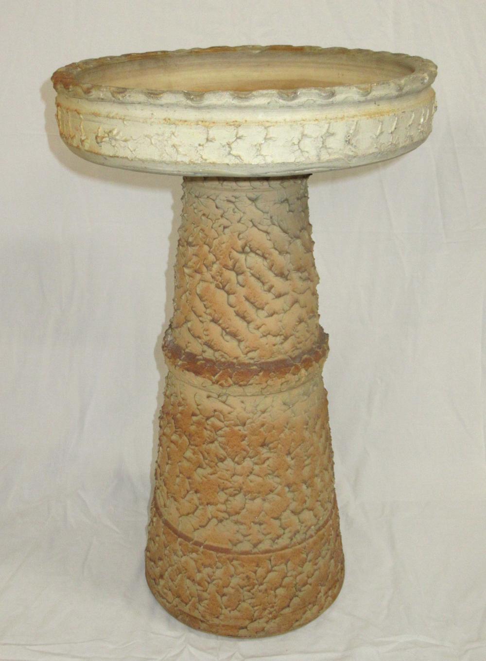 Evans Pottery 2pc Bird Bath