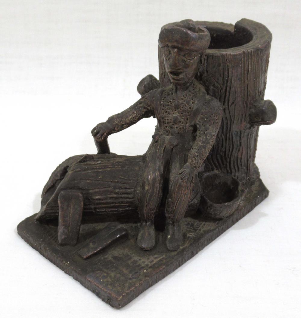 Evans Pottery RARE Folk Art Figural Whimsy Piece