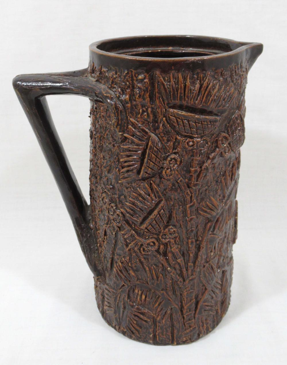 Evans Pottery Thistle Coffee Pot