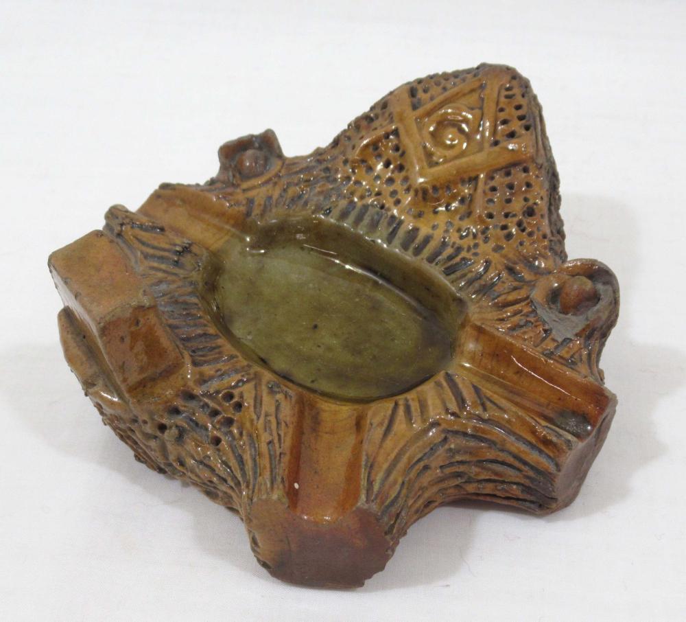 Evans Pottery Masonic Ashtray