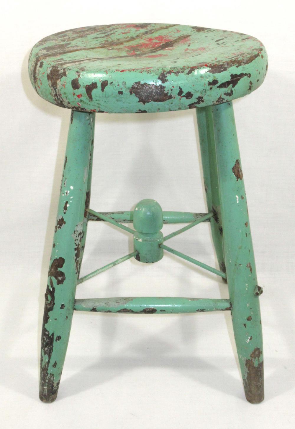 Strange Wood Stool W Old Green Paint Lamtechconsult Wood Chair Design Ideas Lamtechconsultcom