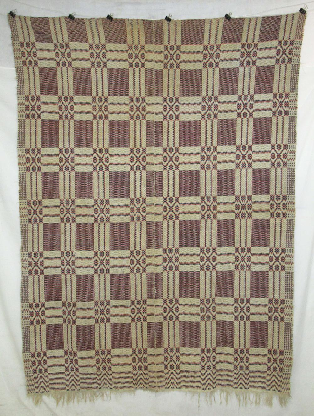Handwoven Early Coverlet