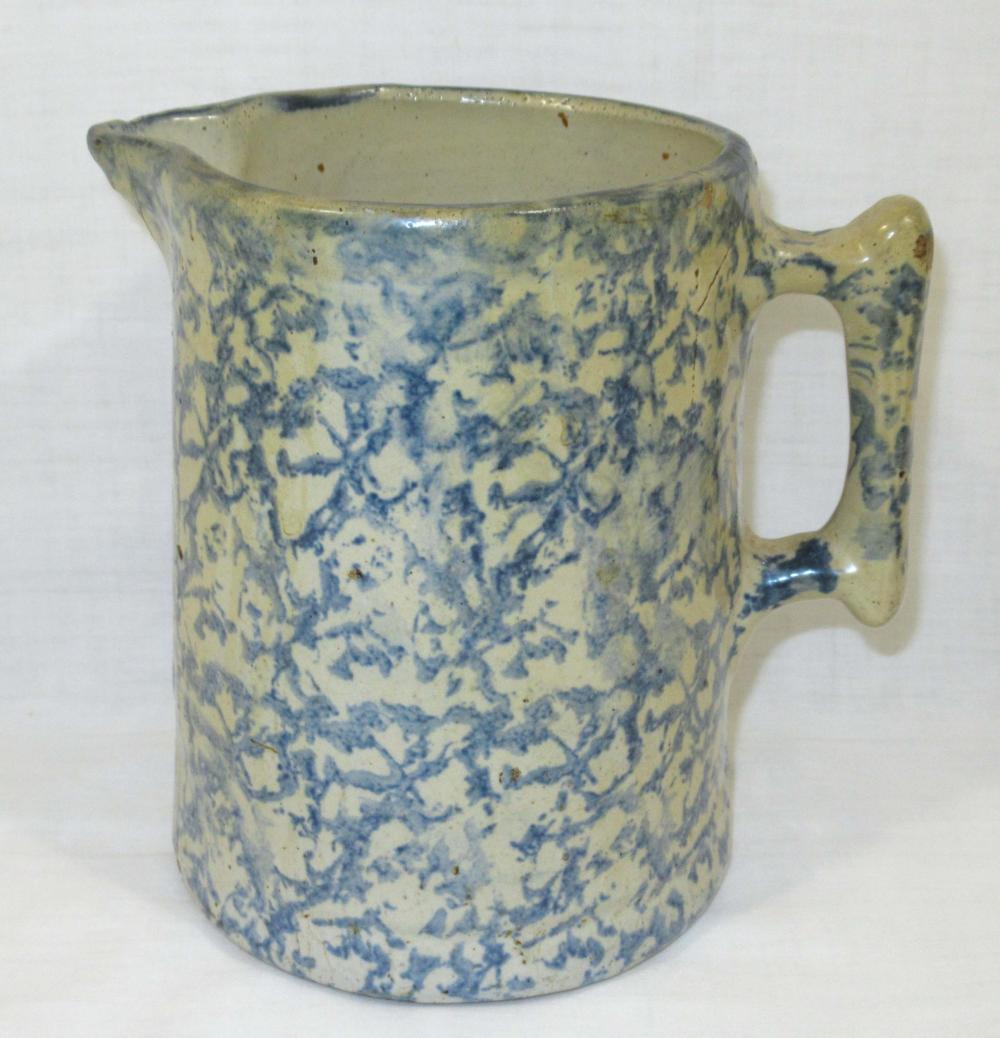 Blue Spongeware Pitcher