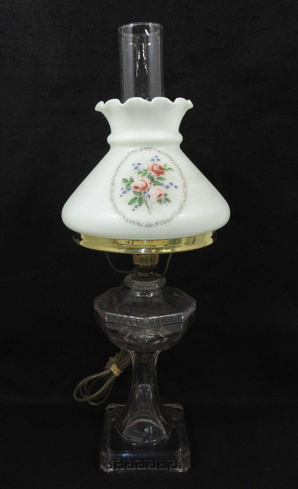 Greek Key Oil Lamp w/ HP Shade
