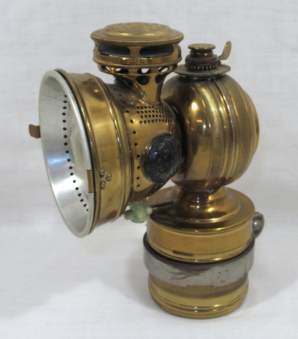 Brass Bicycle Lamp w/ Jewels