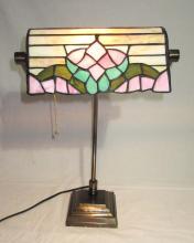 Modern Leaded Glass Desk Lamp