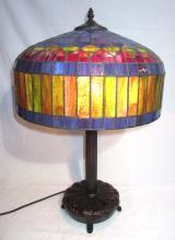 Modern Leaded Glass Lamp