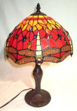 Modern Leaded Glass Dragonfly Lamp