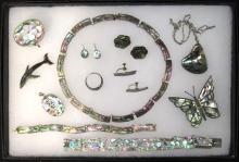 Sterling & Abalone Jewelry Lot
