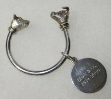 Tiffany & Co. Sterling Bull & Bear Key Ring