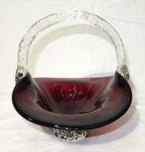 Ruby Glass Basket