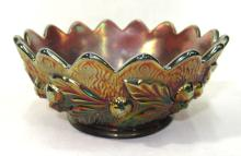 Sgnd Northwood Carnival Glass Bowl