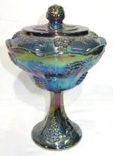Carnival Glass Covered Dish