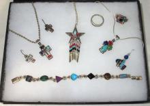 Sterling & Multi Stone Jewelry Lot