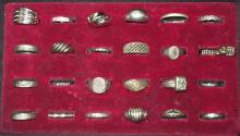Lot of 24 Sterling Costume Rings