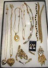 Lot of Goldtone Necklaces, Earrings, Bracelets, Etc.
