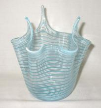 Art Glass Handkerchief Vase