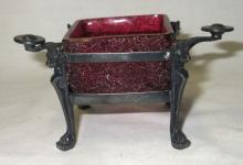 Victorian Cranberry Master Salt in Frame