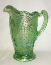 Green Iridescent Water Pitcher