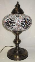 Table Lamp W/ Mosaic Shade
