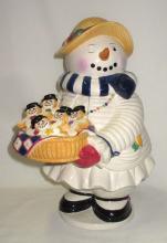 Snow Man Cookie Jar