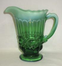 Green Opalescent Eyewinker Pitcher