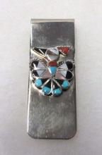 Sterling Inlaid Money Clip