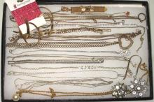 Lot Costume Jewelry Necklaces, pins, ears